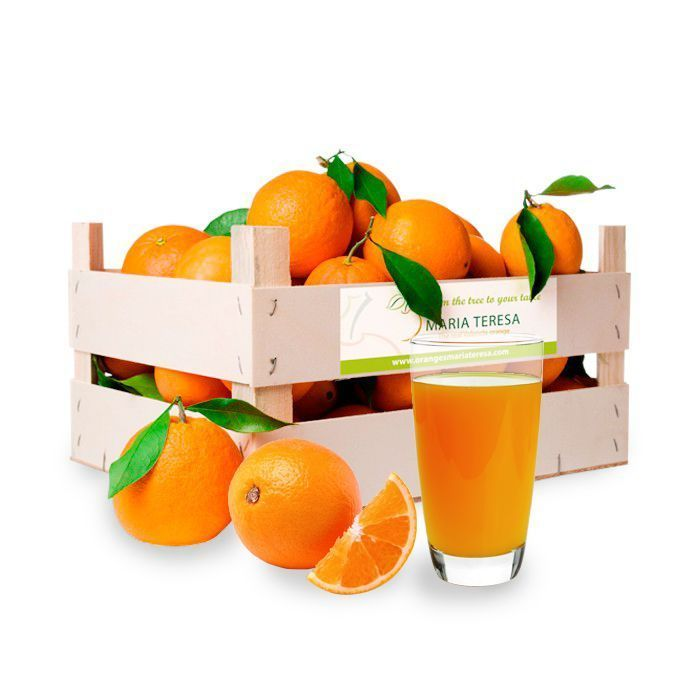 Caja mixta de 5kg de Naranja para zumo y 10kg de Mandarina - Peso 15kg